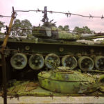 The graveyard of tanks near Kiev