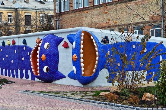 Bizarre children's landscape park, Kiev, Ukraine view 1