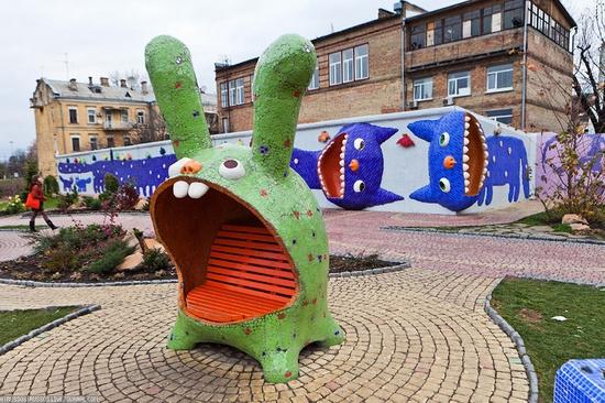 Bizarre children's landscape park, Kiev, Ukraine view 4