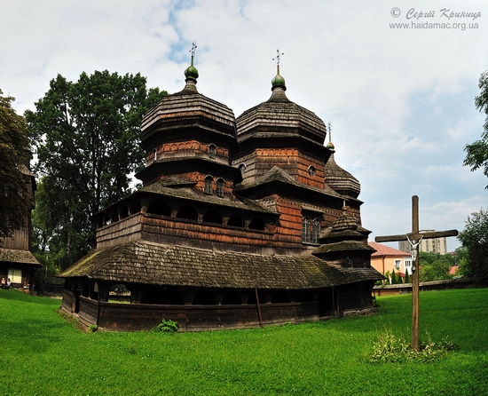 Wooden church of Drohobych, Ukraine view 1
