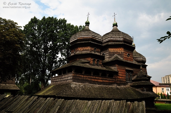 Wooden church of Drohobych, Ukraine view 5