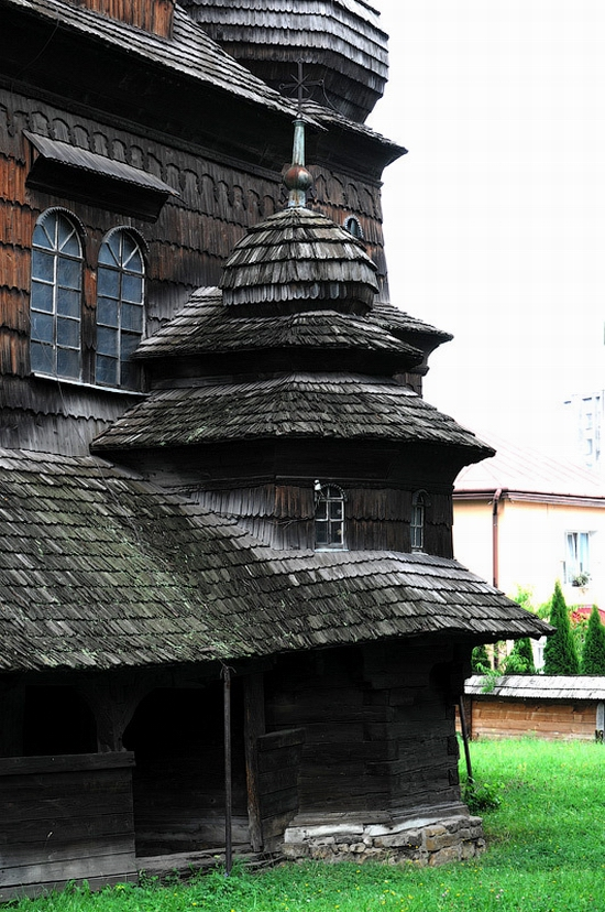 Wooden church of Drohobych, Ukraine view 6