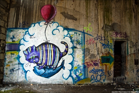 Graffiti-covered abandoned museum of Sevastopol view 10