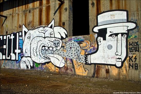 Graffiti-covered abandoned museum of Sevastopol view 11