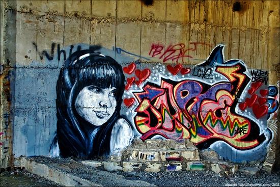 Graffiti-covered abandoned museum of Sevastopol view 5