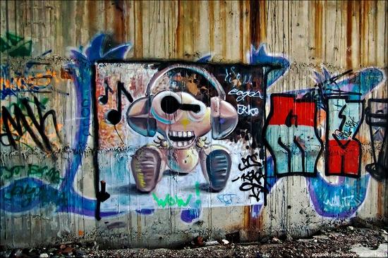 Graffiti-covered abandoned museum of Sevastopol view 7