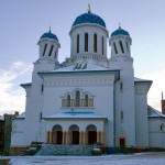 """St. Nicholas Church with the original """"twisted"""" domes"""