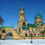 The church of neo-Russian style in Parkhomovka