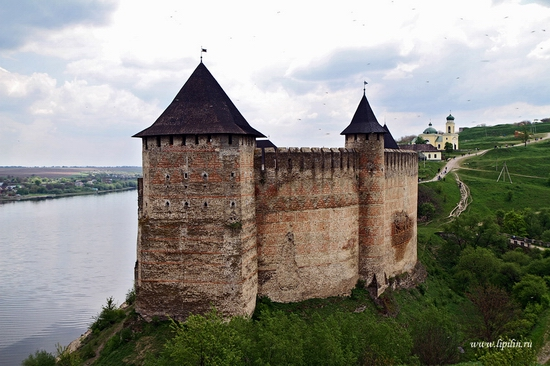 Ancient Khotyn fortress view 1