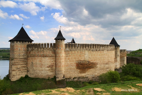 Ancient Khotyn fortress, Ukraine view 2