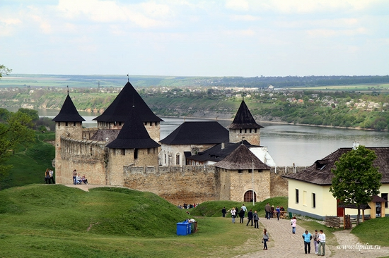 Ancient Khotyn fortress view 3