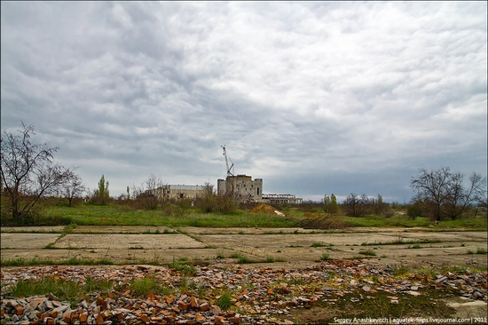 Abandoned Crimean nuclear power plant view 2