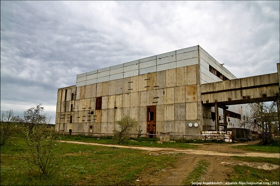 Abandoned Crimean nuclear power plant view 3