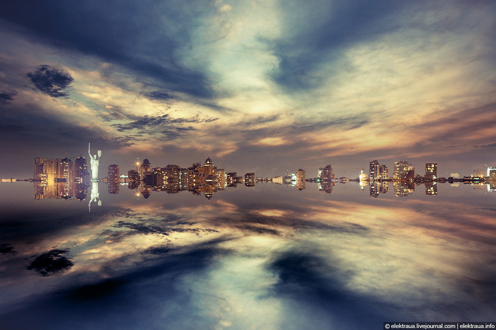 Kiev standing on the water