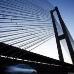 Ukrainian highest cable-stayed bridge