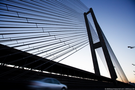 Ukrainian highest cable-stayed bridge view 1
