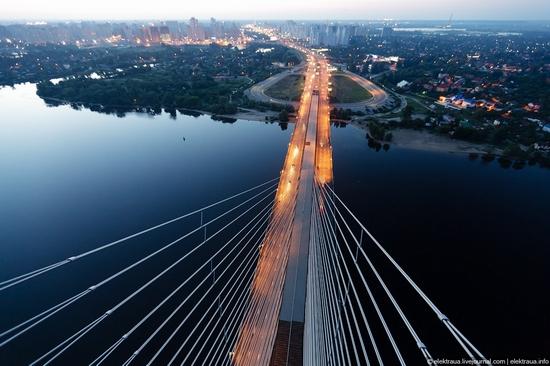 Ukrainian highest cable-stayed bridge view 2