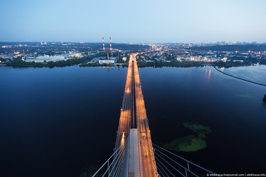 Ukrainian highest cable-stayed bridge view 3