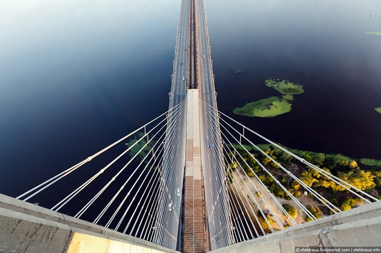Ukrainian highest cable-stayed bridge view 5
