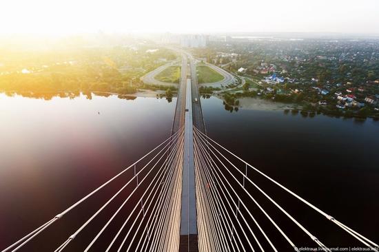 Ukrainian highest cable-stayed bridge view 6