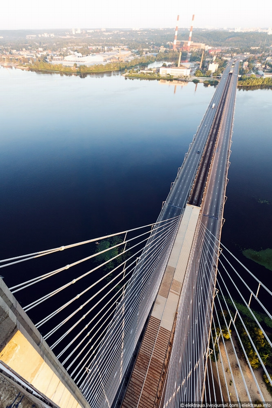 Ukrainian highest cable-stayed bridge view 7
