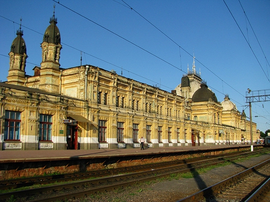 Zhmerinka railway station, Ukraine view 1