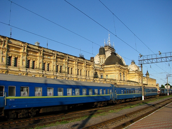 Zhmerinka railway station, Ukraine view 2