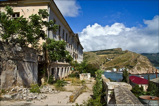 Abandoned military hospital, Balaklava, Crimea, Ukraine view 1