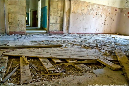 Abandoned military hospital, Balaklava, Crimea, Ukraine view 13