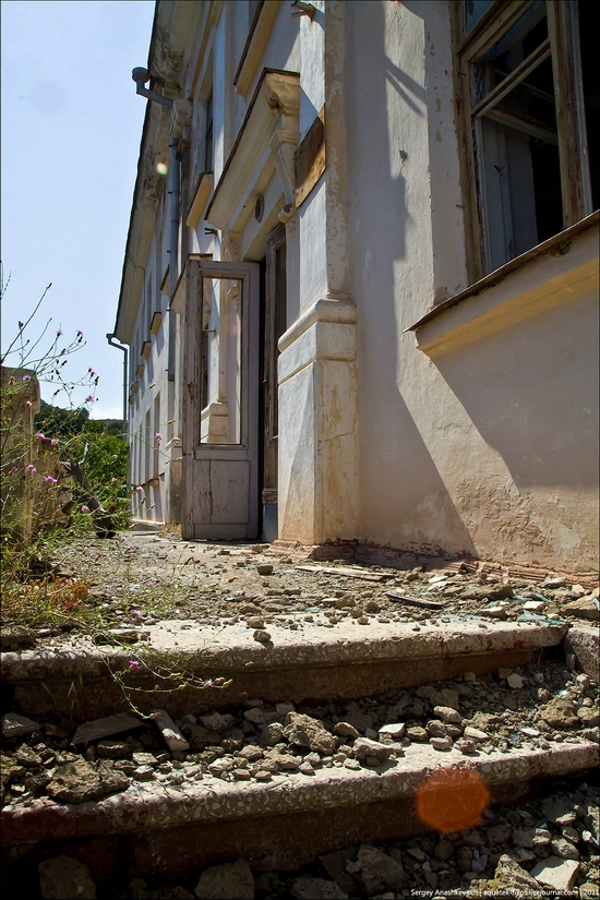 Abandoned military hospital, Balaklava, Crimea, Ukraine view 8