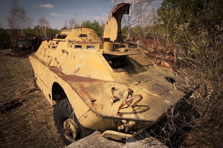 Chernobyl radioactive machinery scrap yard 14