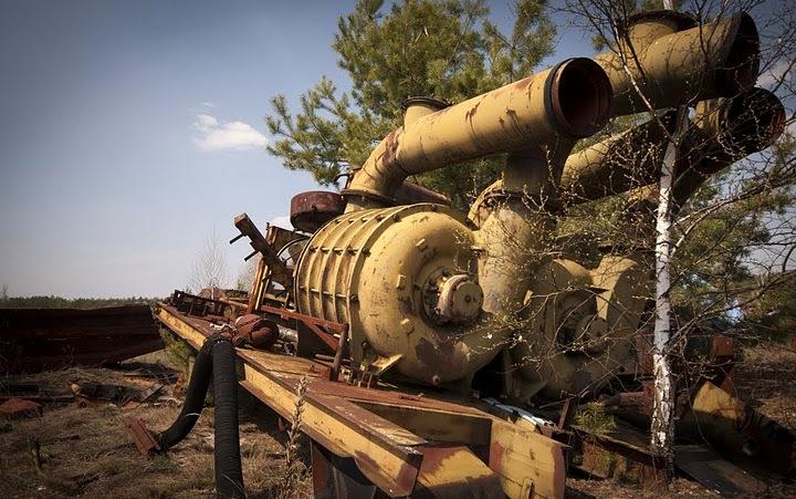 Chernobyl radioactive machinery scrap yard 15