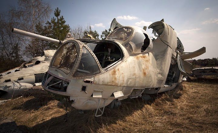 Chernobyl radioactive machinery scrap yard 2