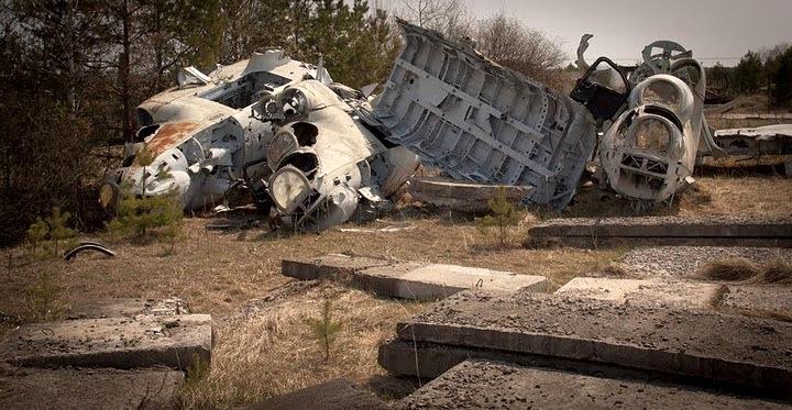 Chernobyl radioactive machinery scrap yard 6