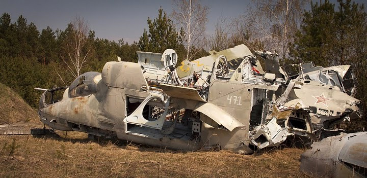 Chernobyl radioactive machinery scrap yard 7