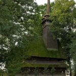 Wooden Gothic church, Zakarpattia region, Ukraine view 1
