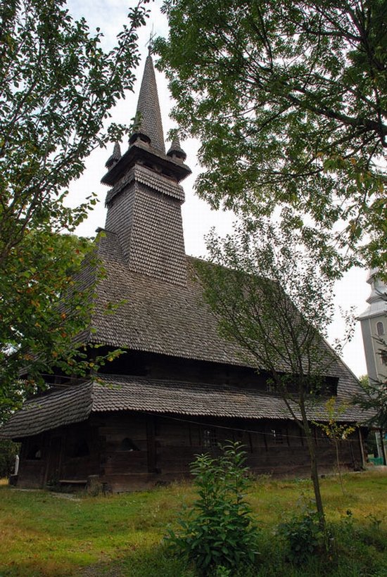 Wooden Gothic church, Zakarpattia region, Ukraine view 10