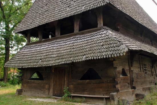 Wooden Gothic church, Zakarpattia region, Ukraine view 15