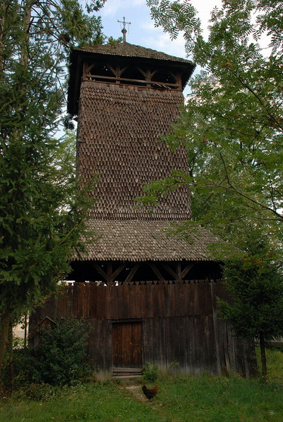 Wooden Gothic church, Zakarpattia region, Ukraine view 16