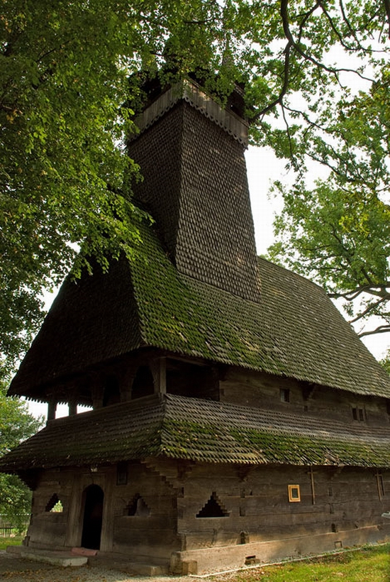 Wooden Gothic church, Zakarpattia region, Ukraine view 8