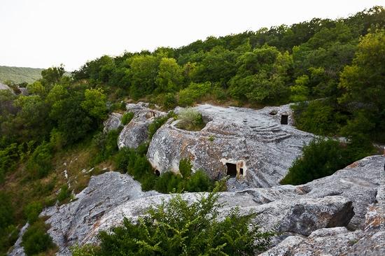Eski-Kermen - medieval underground fortress-city view 15