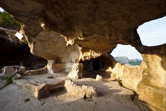Eski-Kermen - medieval underground fortress-city view 19