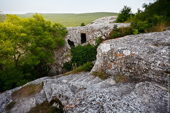 Eski-Kermen - medieval underground fortress-city view 8