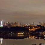 The views of Kiev at night time