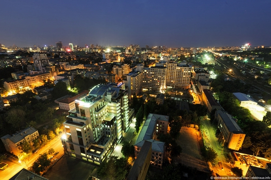 Kiev night time view 2