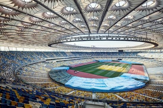 Olimpiyskiy stadium, Kiev, Ukraine view 1