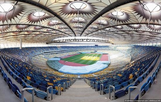 Olimpiyskiy stadium, Kiev, Ukraine view 2
