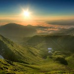 Beautiful landscapes of Ukrainian Carpathians Mountains
