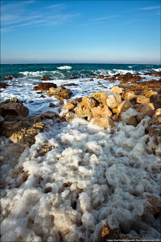 Frozen beach - the lair of aliens, Sevastopol, Ukraine view 14