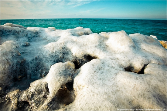Frozen beach - the lair of aliens, Sevastopol, Ukraine view 4